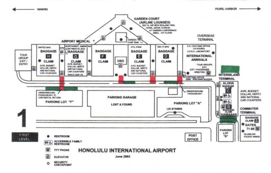 honolulu airport map
